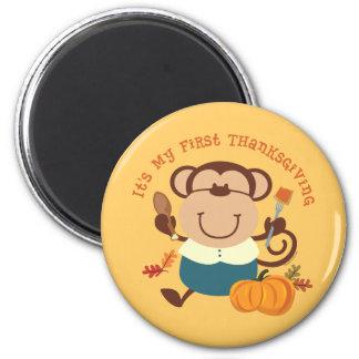 Monkey Boy 1st Thanksgiving Magnet