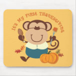 Monkey Boy 1st Thanksgiving Mousepad