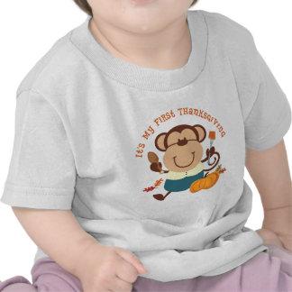 Monkey Boy 1st Thanksgiving Tshirts