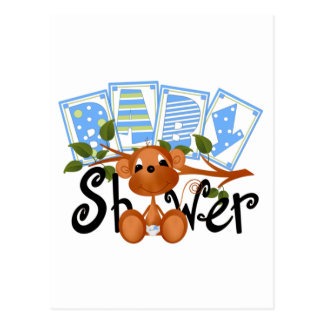 Monkey Boy Baby Shower Cards and Stickers