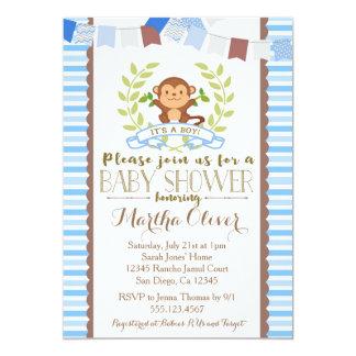 Monkey Boy Baby Shower Invitation