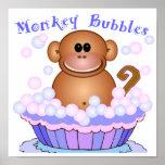 Monkey Bubbles Framed Print