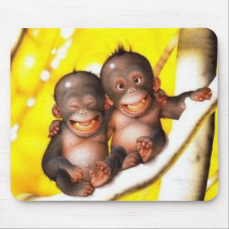 monkey buds mouse pad