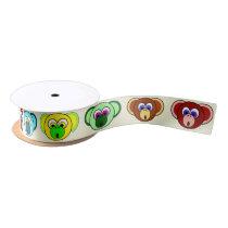 Monkey Bunch Colorful Cartoon Monkeys Kids Animals Satin Ribbon