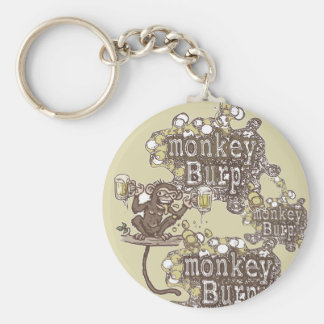 Monkey Burp Beer Drinking Shirts and Gift Ideas Keychain