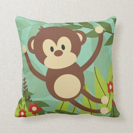 """Monkey Business 16"""" x 16"""" Pillow Pillows"""