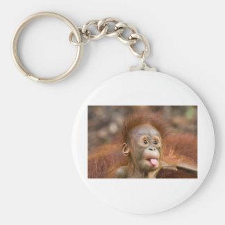 Monkey business 2 basic round button keychain
