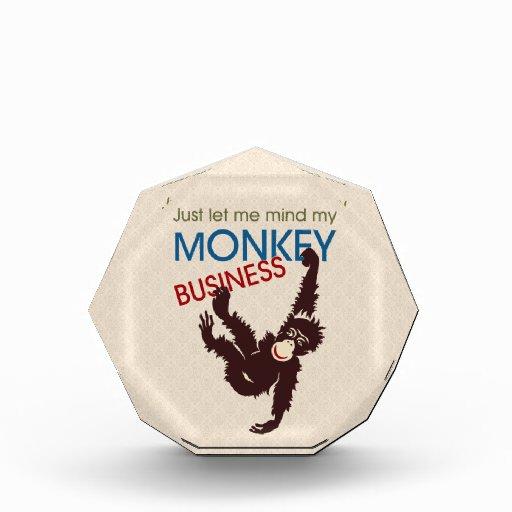 Monkey Business Acrylic Award