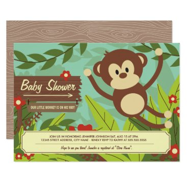 Professional Business Monkey Business Baby Shower Invites