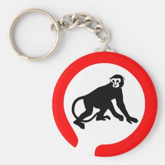 Monkey Business Basic Round Button Keychain