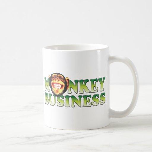 Monkey Business Basic White Mug