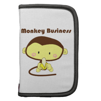 Monkey Business Brown and Yellow Chimp Cartoon Planners