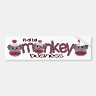 Monkey Business Bumper Sticker