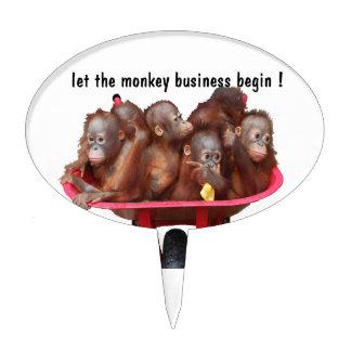 Monkey Business Cake Pick