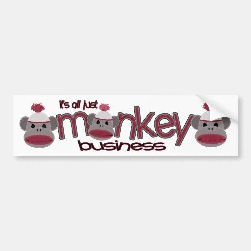 Monkey Business Car Bumper Sticker