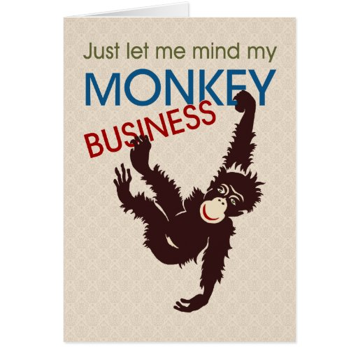 Monkey Business Greeting Cards