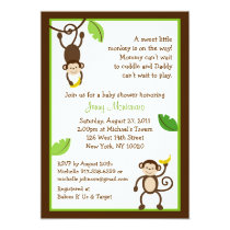 Monkey Business Jungle Baby Shower Invitations