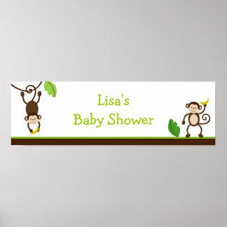 Monkey Business Jungle Birthday Banner Sign Print