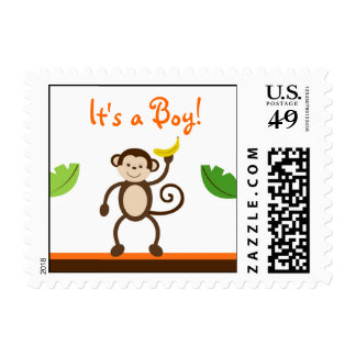 Monkey Business Jungle Postage Stamps