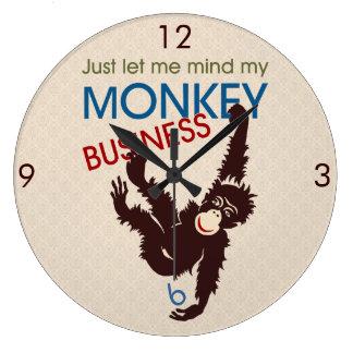 Monkey Business Large Clock