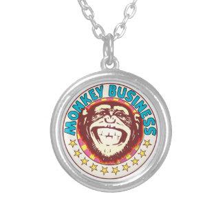 Monkey Business Round Pendant Necklace