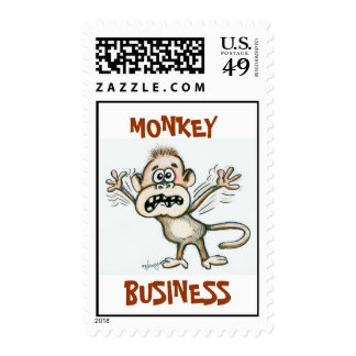 mONKEY bUSINESS Postage Stamps