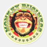 Monkey Business Round Sticker