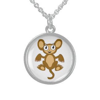 MONKEY BUSINESS STERLING SILVER NECKLACE