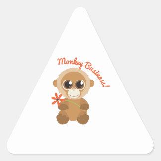 Monkey Business Triangle Sticker