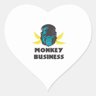 Monkey Business Heart Sticker