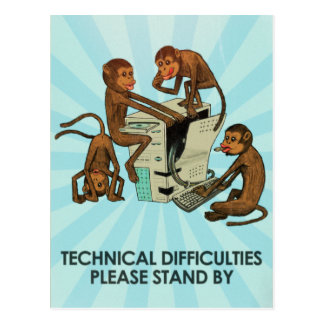 Monkey Business - Technical Difficulties Postcard