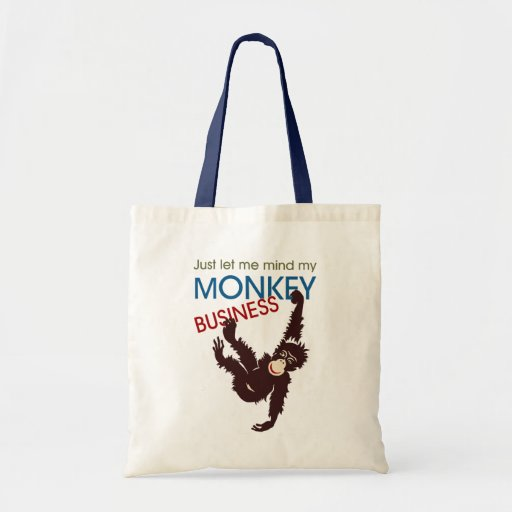 Monkey Business Tote Bags