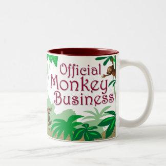 Monkey Business Two-Tone Coffee Mug