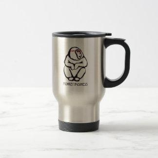 Monkey Business (w/ text) Travel Mug