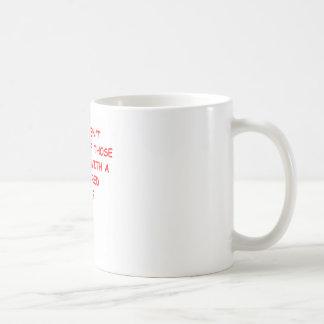 monkey butt classic white coffee mug