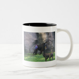 Monkey Butt Two-Tone Coffee Mug