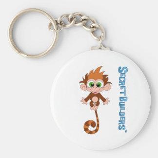 Monkey Button Keychain