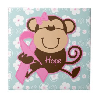 Monkey Cancer Hope Tile tile
