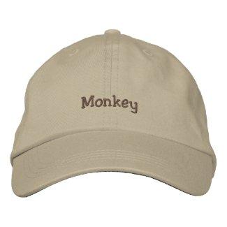 Monkey cap embroideredhat
