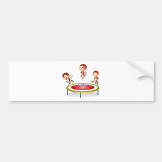 Monkey Car Bumper Sticker