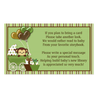 Monkey Carriage v1 Book Requests Instead of a Card Business Card