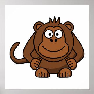 Monkey Cartoon Animal Print