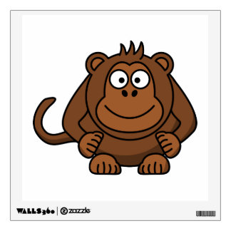 Monkey Cartoon Animal Wall Skins