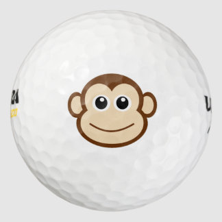 Monkey Cartoon Golf Balls