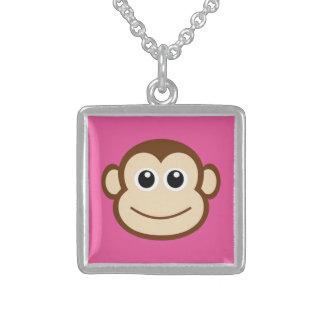 Monkey Cartoon Sterling Silver Necklace