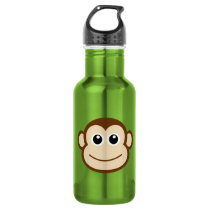 Monkey Cartoon Water Bottle