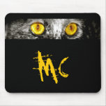 Monkey Cat Eyes Only Mouse Pad