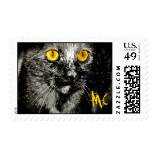 Monkey Cat Postage Stamps