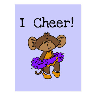 Monkey Cheerleader Gold and Purple Postcards