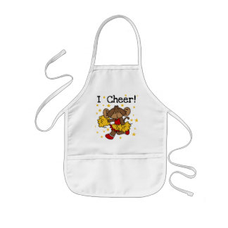 Monkey Cheerleader Red and Gold T-shirts and Gifts Aprons